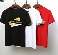 мужская футболка купить оптовых-2019 Новая европейская и американская мужская модная футболка для отдыха Размер M-3XL-Free Freight-Welcome to Buy-023