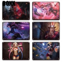 Wholesale league legends paintings for sale - Group buy League of Legends Game Poster Metal Tin Sign Vintage Gamer Decoracion Devil Jinx Kai sa Iron Painting Gamer Room Home Wall Decor
