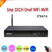 ingrosso dahua channel nvr-Home CCTV Sicurezza NVR Dahua Panel Hi3536C XMeye Surveillance Video Recorder 5mp 32CH 32 Channel H.265 2 * SATA IP Onvif WIFI
