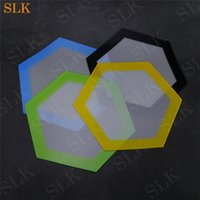 Wholesale foods fiber for sale - Group buy Hexagon silicone mat Quality FDA food grade reusable non stick sheet concentrate bho wax slick oil pads heat resistant fiber glass dab mats