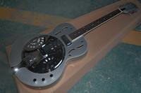Wholesale dobro guitar resale online - High Quality maestro Dobro Resonator Silver grey Electric Guitar In stock