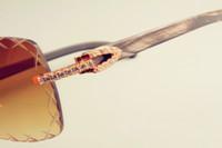 роговые линзы оптовых-Оптово-2019 гравировка линзы 8300177 солнцезащитные очки мода маленький алмаз солнцезащитный козырек натуральный черный узор рога солнцезащитные очки толщина линзы 3.0