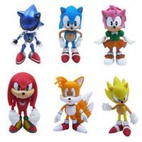 sonik oyuncak bebekler toptan satış-Sonic Boom Amy Rose Sticks Kuyrukları Werehog PVC Aksiyon Figürleri Knuckles Dr. Eggman Anime Pop Figürinler Bebekler Çoc ...