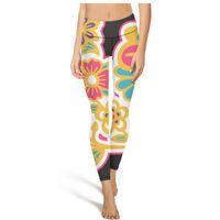 Wholesale pattern yoga pants for sale - Group buy Mehndi Art design patterns vector High Waist Yoga Pants Womens Gym Yoga Pants Elastic Training Tights Cool Leggings Black