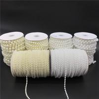 marfim pérola contas grinalda venda por atacado-2.5-10mm Marfim Branco Imitação De Pérolas Beads Cadeia Guirlanda Flores Acrílico Beads Para Decoração de Casamento DIY Jóias acessórios