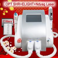 Wholesale ipl machine shr for sale - OPT SHR IPL laser machine fast hair removal Nd Yag laser tattoo removel Elight Skin Rejuvenation alexandrite laser machine