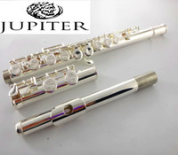 Wholesale nickel flute resale online - Taiwan Jupiter flute JFL ES musical instrument Flute over C Tune and E Key Flute music professional