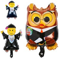 Wholesale owls decorations party for sale - Group buy Mini Owl Cartoon Balloon Aluminum Film Inflation Balloons Graduation Season Party Decoration Ultra Light Thin Lovely yl C1