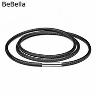 Wholesale black findings for jewelry resale online - Necklace cord string rope lace chain with rotary buckle for diy necklace bracelet in black red coffee color jewelry finding