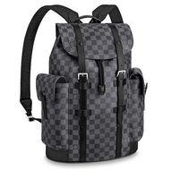 прокат оптовых-N41379 Кристофер Рюкзак MEN FACKION BACKPACKS Деловые сумки TOTE MESSENGER BAGS SOFTSIDED LAGGAGE ROLLING Bag