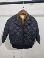 veste d'extérieur pour filles achat en gros de-Livraison gratuite enfants Vers le bas Parkas 2-12T hiver enfants survêtement garçons filles casual chaud veste à capuchon pour garçons solides garçons manteaux chauds