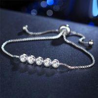 Wholesale infinity jewelry for sale - Group buy New Fashion Infinity Round Heart Cubic Zirconia Bracelet Women Party Jewelry Bangle