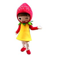 Wholesale carnival costume fruits for sale – halloween Halloween Strawberry Girl Mascot Costume Top Quality Cartoon Fruit Anime theme character Christmas Carnival Party Fancy Costumes