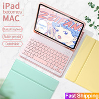 Wholesale keyboard ipad pro for sale - Group buy Candy Bluetooth Keyboard For iPad Pro th Ipad pro Air with Leather Case cover pen slot