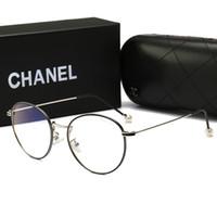 mavi erkek güneş gözlüğü çerçeveleri toptan satış-Yeni Yaz kadın Tasarımcı Güneş Gözlüğü Sıcak Marka Anti-mavi Işık kadın Yuvarlak Gözlük Erkekler Kadınlar için Lüks Tam Çerçeve ile kutu