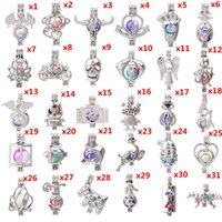 Wholesale locket earrings for sale - Group buy 600 Designs For You choose Pearl Cage Beads Cage Locket Pendant Aroma Essential Oil Diffuser Locket DIY Necklace Earrings Bracelet Jewelry