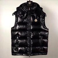 New French anorak men winter vest gillets UK popular gilets Jacket Body Warm Plus Size Man Down parkas anorak hooded down vest