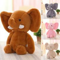 lindo animal elefante al por mayor-Más nuevo bebé niño niños niñas lindo animal de peluche de juguete suave mini elefante animales de peluche de regalo muñeca