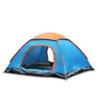 ingrosso tende blu persone-Hot Outdoor Resistente all'acqua Installazione automatica istantanea Due porte 2 persone Tenda da campeggio con parapioggia