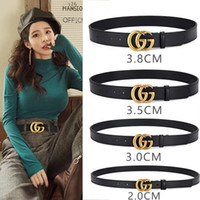 Wholesale women s leather belts without buckles resale online - 2018 Newest High quality design Mens Belts Business Waistbands Genuine leather fashion mens strap Brand Belts For Men without box