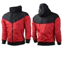 nk sudadera con capucha al por mayor-Venta caliente nueva marca NK hombre primavera otoño chaqueta con capucha hombres mujeres ropa deportiva ropa cortavientos abrigos sudadera chándal