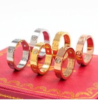 Wholesale gold rings resale online - 2019 NEW AAA CARTIER L Titanium steel nails rings lovers Band Rings Size for Women and Men brand jewelry NO original box
