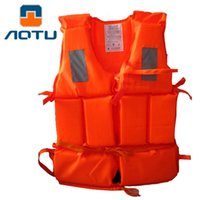 полиэфирные спортивные куртки для женщин оптовых-Men Women Jacket Water Sport Professional Vest Child Universal Polyester Foam Flotation Swimming Boating Ski safety