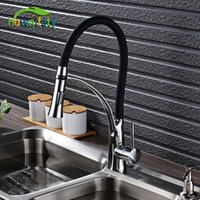 Wholesale water lever for sale - Group buy Chorme Polish Kitchen Faucet Single Lever Deck Mounted Tap Pull Out Spout Tap ways outlet Water Mixer
