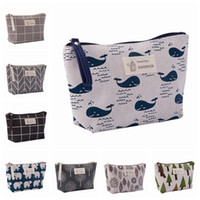 Wholesale multifunction makeup storage bag for sale - Group buy Canvas Wash Bags Makeup Cosmetic Bag for Travel Waterproof Print Storage Pouch Multifunction Women Storage Bags HHA1092