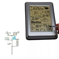 Wholesale weather station wireless sensors resale online - Misol Professional Wireless Weather Instrument Weather Station Touch Panel Solar Sensor Hygrometer w PC InterfaceHigh Low records for indoor