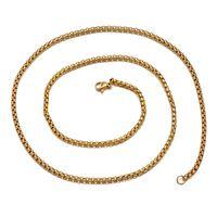 Wholesale black titanium necklaces for men resale online - Square Pearl Chain Necklaces Hip Hop for Men mm inch Titanium Stainless Steel Plated Black Statement Necklace Jewelry Accessories