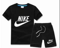 schwarze kinder kleidet entwürfe großhandel-Jungen und Mädchen Kinderanzüge Kinder T-Shirts und Hosen Kinder Baumwollanzug Jungen Mädchen Sommeranzug Baby Sport
