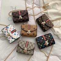 ingrosso sacchetto di imballaggio per il partito-borse a tracolla per bambini Fashion Girl Print tracolla catena Fanny Pack Casual Outdoor Princess Pouch party