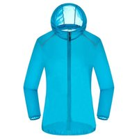 Wholesale cycling windbreaker for sale - Group buy HOWE AO Men women Summer Running Jackets Outdoor Sports Quick Dry Hooded Jacket Anti UV Skin top Cycling Travel Coat Windbreaker