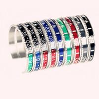 silber wasser armband großhandel-Top 316L Watch Skala C Armbänder, trendige Eröffnung C Schrift Water Ghost Armband Silber, Gold Skala Armband, Herren- und Damenschmuck