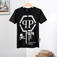 Wholesale a5 fashion for sale - Group buy Spring s newest floral skull T shirt with round neck Physical strength High quality cotton blend size M XL A5