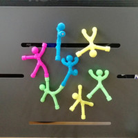 Wholesale man climbing magnets for sale - Group buy 2019 new fashion childres toys New exotic DIY magnet climbing wall soft rubber doll toy Venting puzzle magnetic man Creative refrigerat
