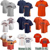 enviar auténticos jerseys de béisbol al por mayor-2020 Correa Astro Jersey Houston, para jóvenes Alex Bregman George Springer José Altuve Yuli Gurriel Yordan Alvarez Michael Brantley de hombres de las mujeres