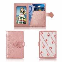 наклейка для футляра для телефона оптовых-Универсальный телефон слот для карты 3 м наклейка кожа Stick на кошелек Cash ID кредитной карты держатель для iPhone XS MAX XR x Note9 цветок Datura Case