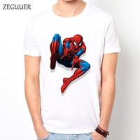 ingrosso anti lontano-Classic Spider-man Far From Home Intero maglietta Harajuku di stampa di modo Streetwear Uomini Tshirt Boyfriend regalo unisex