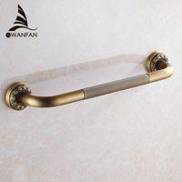 Wholesale antique brass shower handles resale online - Grab Bars Antique Brass Wall Mounted cm Bathroom Safety Handles Shower Grab Bar Bathtub Handrail Home Assist Bar Grab F