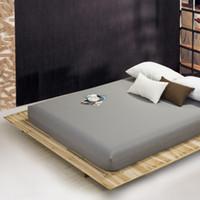 burgundische bettwäsche großhandel-einfarbige Bettlaken Spannbetttuch elastischer Matratzenbezug Bettwäsche Tagesdecke Polyester Baumwolle Single Twin Full Queen