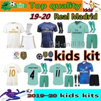 Wholesale jersey soccer children for sale - Group buy 19 Real Madrid Soccer Jersey kids kits with socks HAZARD child kit VINICIUS JR MODRIC BALE kids EA Sports football shirts