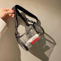 Wholesale mini red buckets resale online - Transparent Clear Pvc Printed Women s Jelly Bags Mini Designer Shoulder Messenger Bags Cross Body for Women Purses Clutch