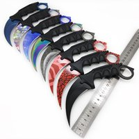 Wholesale cosplay knives resale online - Karambit Cs Go Fixed Blade Knife Never Fade Counter Strike Fighting Claw Knives Survival Camping Edc Cosplay Tools