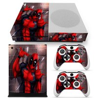 controladores remotos xbox venda por atacado-Fanstore adesivo de pele protetor de decalque de vinil envoltório para Xbox One S Console e 2 controle remoto Popular Design
