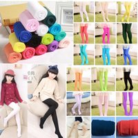 Wholesale leggings warmers toddler tights resale online - Kids Girls Knitted Warm Pantyhose Baby Toddler Infant Tights Stocking Leggings Spring Autumn pants Clothing Dance Tight Pants AAA1481