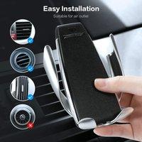aufladung telefonständer großhandel-Infrarot Touch Autotelefonhalter Drahtlose Aufladung Für iPhone Samsung 360 Navigation Autohalterung Autoständer Unterstützung