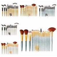 ingrosso spazzole di glitter-Set di pennelli per trucco lucido Set di pennelli per trucco professionale per pennelli per labbra Eyeliner Set di pennelli per trucco per le labbra 18Pcs / set RRA1253