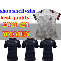 Wholesale new jersey c for sale - Group buy 2020 new Mexico jersey CHICHARITO home away G DOS SANTOS R MARQUEZ C VELA thai quality Mexico women white soccer Jersey football shirt